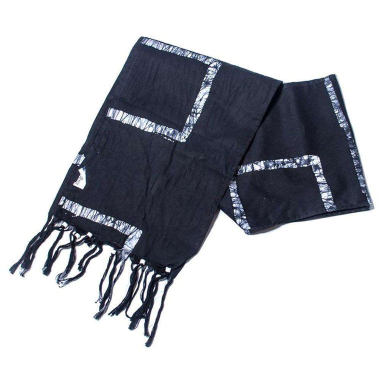 Batiked Scarf - Black - World Peaces (S) CoolHatcher at TheArtOfLiving.Earth