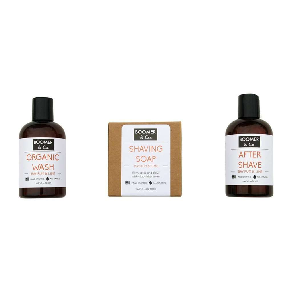 Bay Rum & Lime Men's Grooming Kit CoolHatcher at TheArtOfLiving.Earth