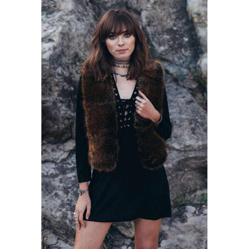BEARCLAW FAUX FUR VEST CoolHatcher at TheArtOfLiving.Earth