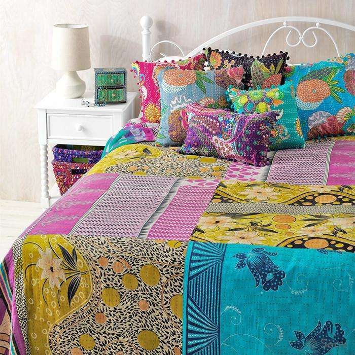 Beautiful Kantha Bedcover CoolHatcher at TheArtOfLiving.Earth