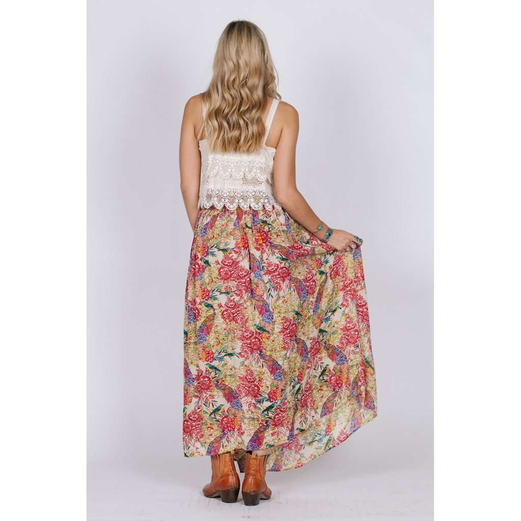 BIRDS OF PARADISE MAXI SKIRT CoolHatcher at TheArtOfLiving.Earth