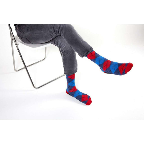 Men's 5-Pair Funky Argyle Socks CoolHatcher at TheArtOfLiving.Earth