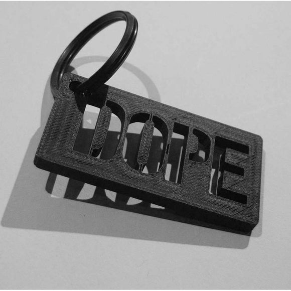 3D Printed Carbon Keychain CoolHatcher at TheArtOfLiving.Earth