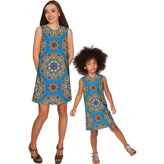 8f676ec88b63 Boho Chic Adele Shift Floral Mother and Daughter Dress CoolHatcher at  TheArtOfLiving.