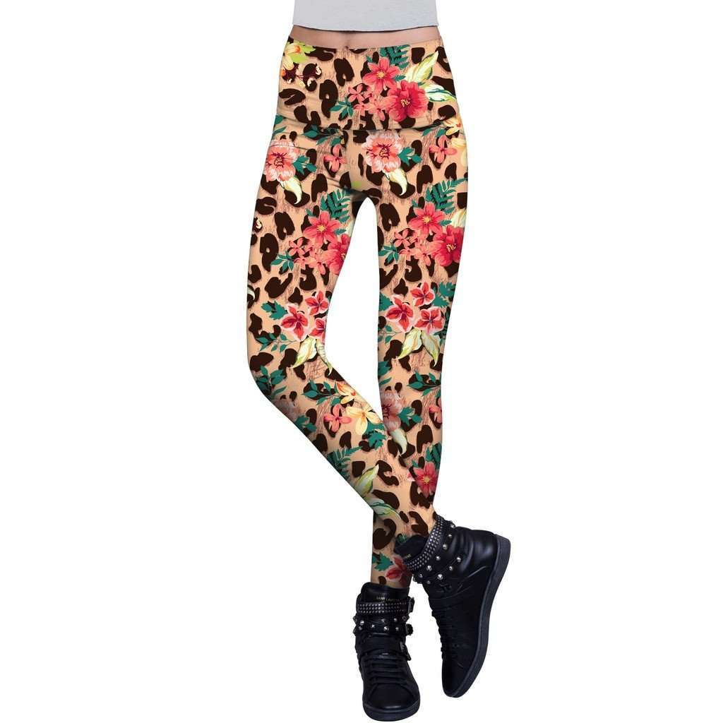 Wild & Free Lucy Leopard Print Performance Legging - Women CoolHatcher at TheArtOfLiving.Earth