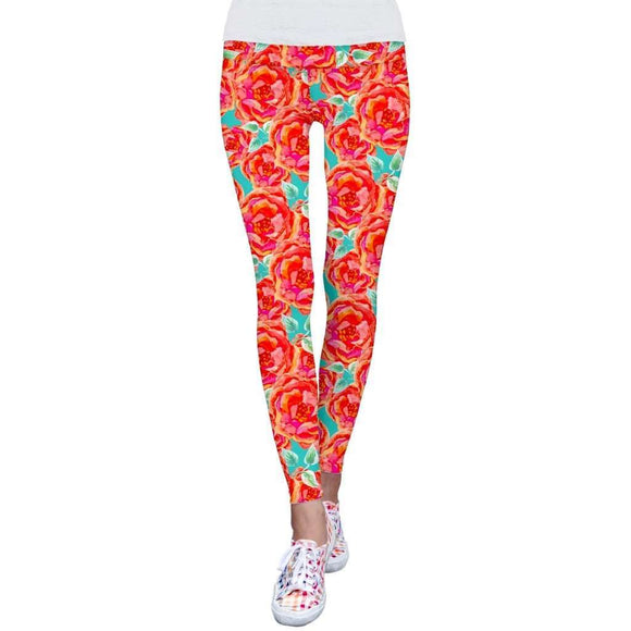 15de5e358bd5 Earth Oh So Sassy Lucy Floral Print Performance Leggings - Women  CoolHatcher at TheArtOfLiving.Earth