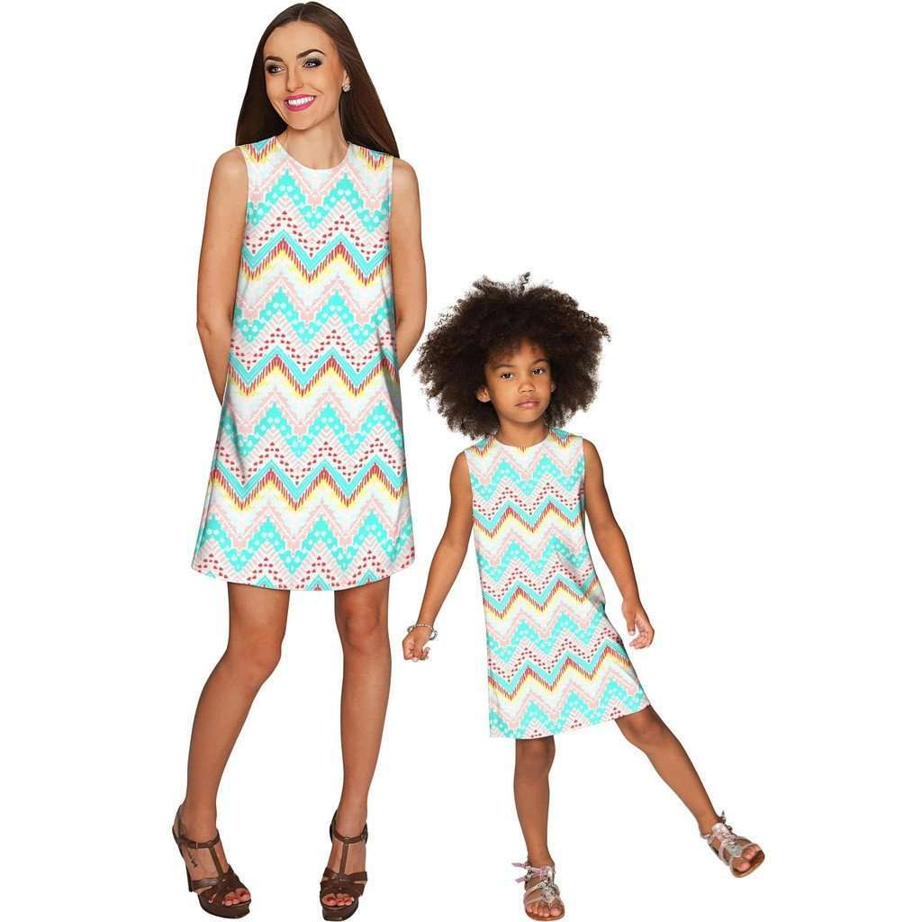 Chevron Please Adele Casual Shift Mini Dress - Women CoolHatcher at TheArtOfLiving.Earth