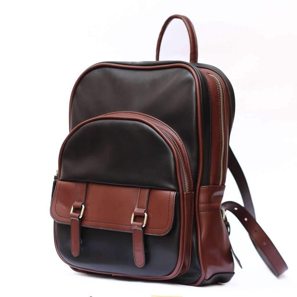 Leather Backpack CoolHatcher at TheArtOfLiving.Earth