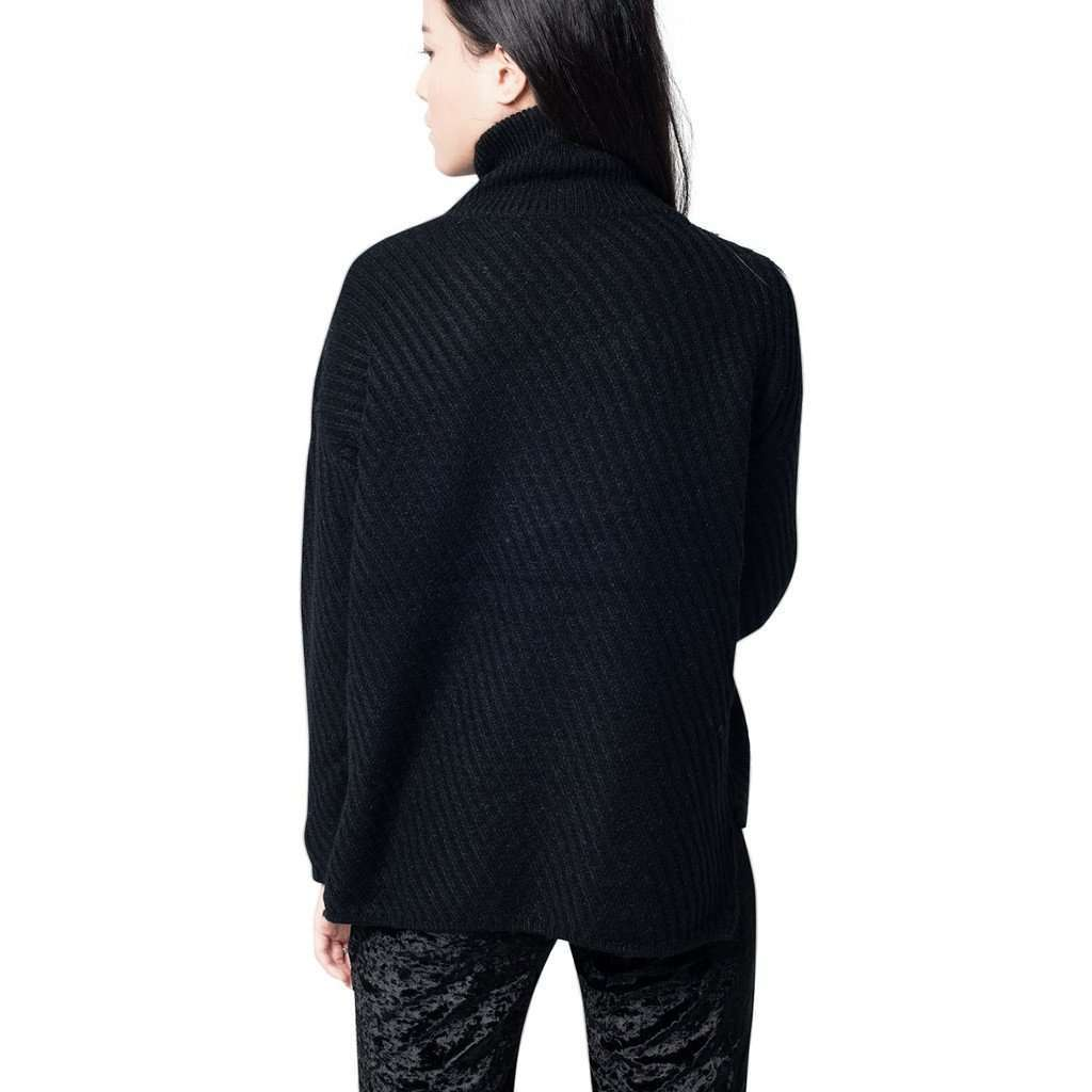 Black High Neck Chunky Knit Jumper CoolHatcher at TheArtOfLiving.Earth