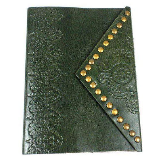 Fair Trade Emerald Nailhead Journal CoolHatcher at TheArtOfLiving.Earth
