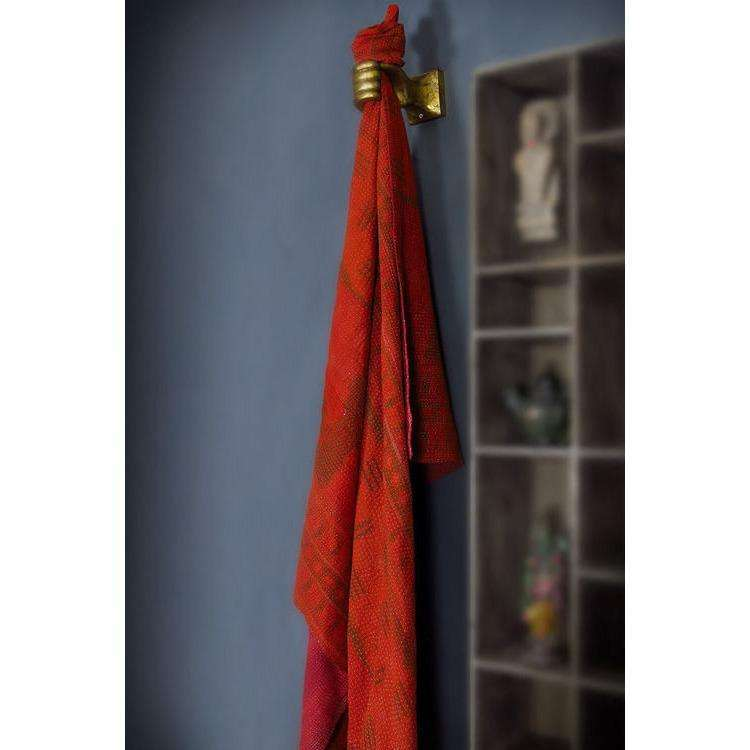 Vintage Overdyed Red Throw CoolHatcher at TheArtOfLiving.Earth