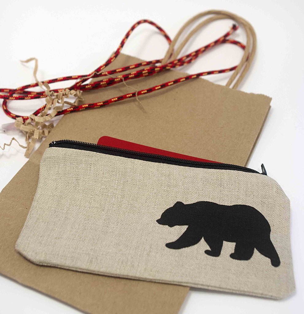 Tuck a gift card into a mini pouch for a easy gift for that picky person on your list