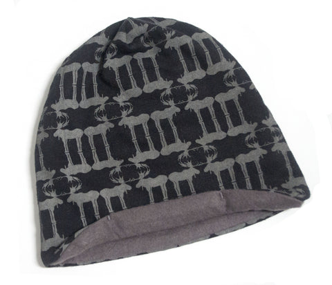 Black Moose Slouchy Toque