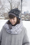 Toronto Scarf - Grey and White