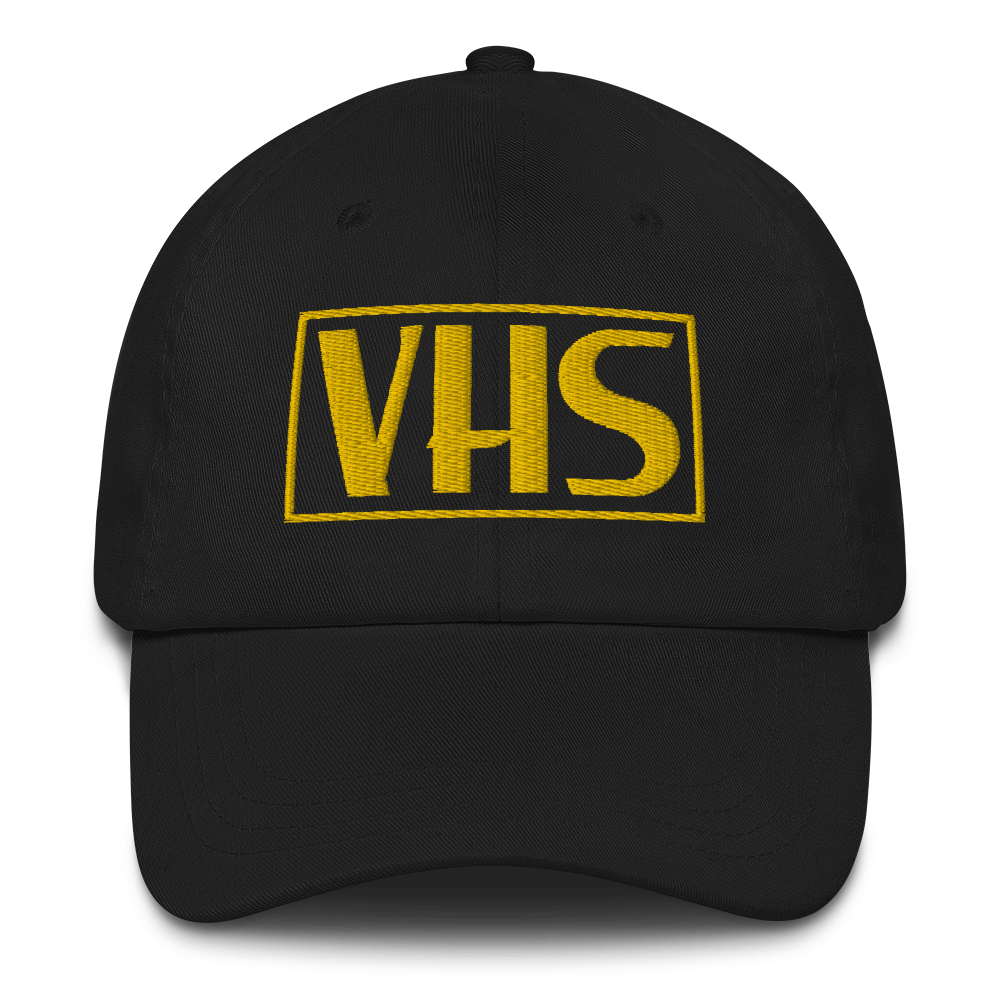 vhs logo embroidered dad cap hat