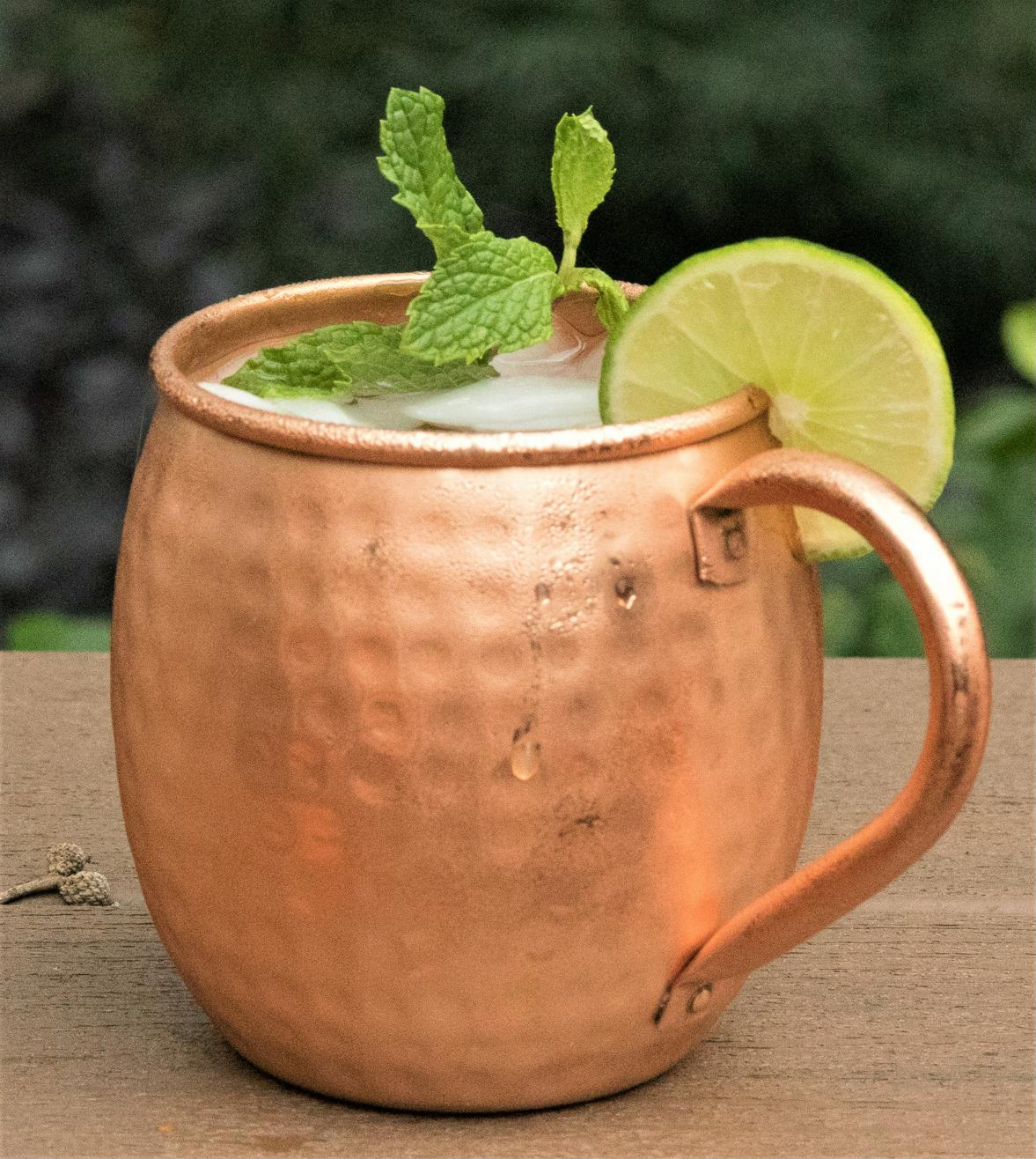 Size 16 Oz No Nickel Interior CGP Copper Barrel Moscow Mule Moscow Mule Mug Hand Hammered Set of-4 100/% Pure Solid Copper