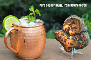 100% Copper Moscow Mule Mug (16 ounce Barrel Hammered) Premium Handcrafted Quality with no Inside Liner, Riveted Handle
