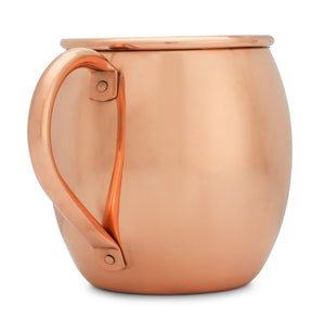 Copper Mules Elegant Copper Pitcher (70oz) with Lid and Copper Mugs Set (16oz) - Handcrafted by Highly Experienced Artisan