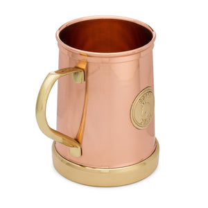 Pure Copper and Brass Moscow Mule Mug - The Finest HandCrafted Copper Mug Ever Made - 335grams Empty - 18 ounce - Patent Pending Design