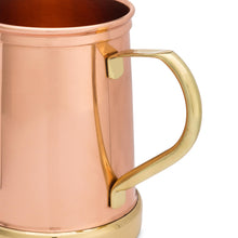 Load image into Gallery viewer, Pure Copper and Brass Moscow Mule Mug - Finest HandCrafted Copper Mug Ever Made - 335grams Empty - 18 ounce - Patent Pending Design