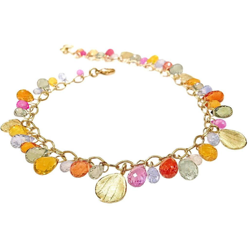 Barbara Heinrich Multicolored Sapphire Briolette Petals Bracelet - Szor Collections