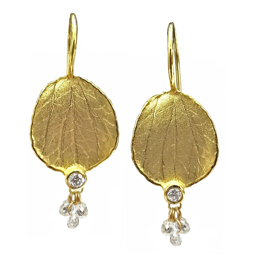 Barbara Heinrich Diamond Briolette Petal Earrings (Special Order) - Szor Collections