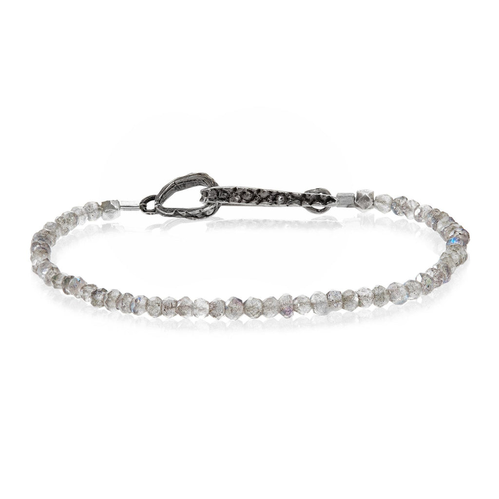Lauren Wolf Labradorite Silver Stingray Bracelet - Szor Collections
