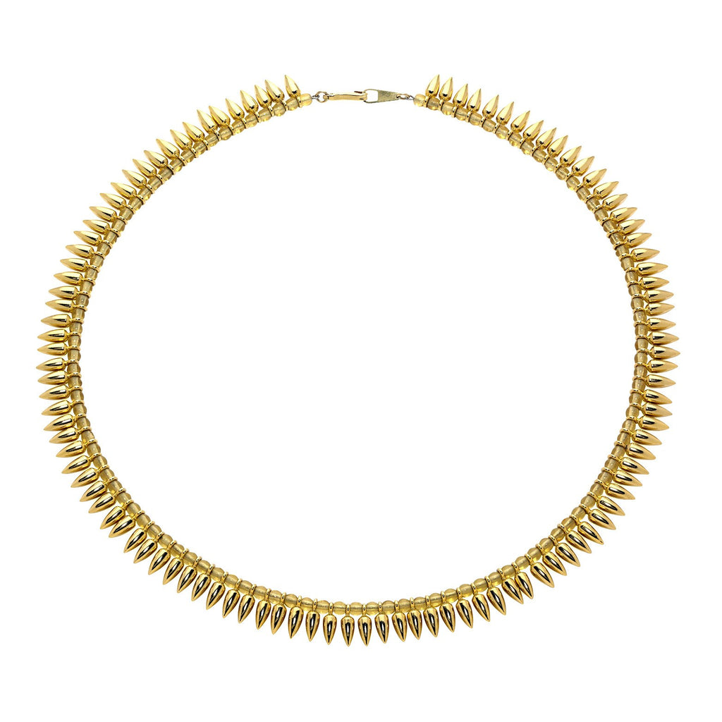 Estyn Hulbert Gold Vermeil Bullet Bead Necklace (Special Order) - Szor Collections