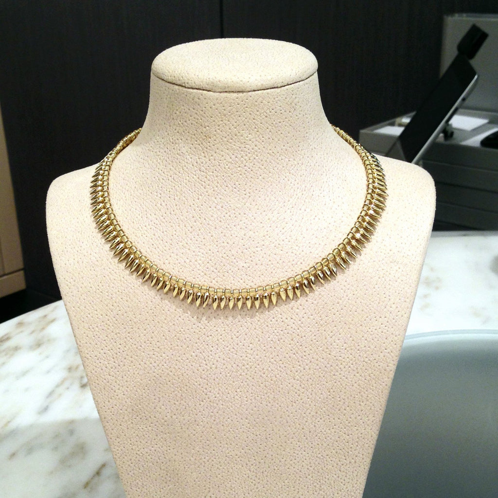 Estyn Hulbert Gold Vermeil Bullet Bead Necklace - Special Order - Szor Collections - 2