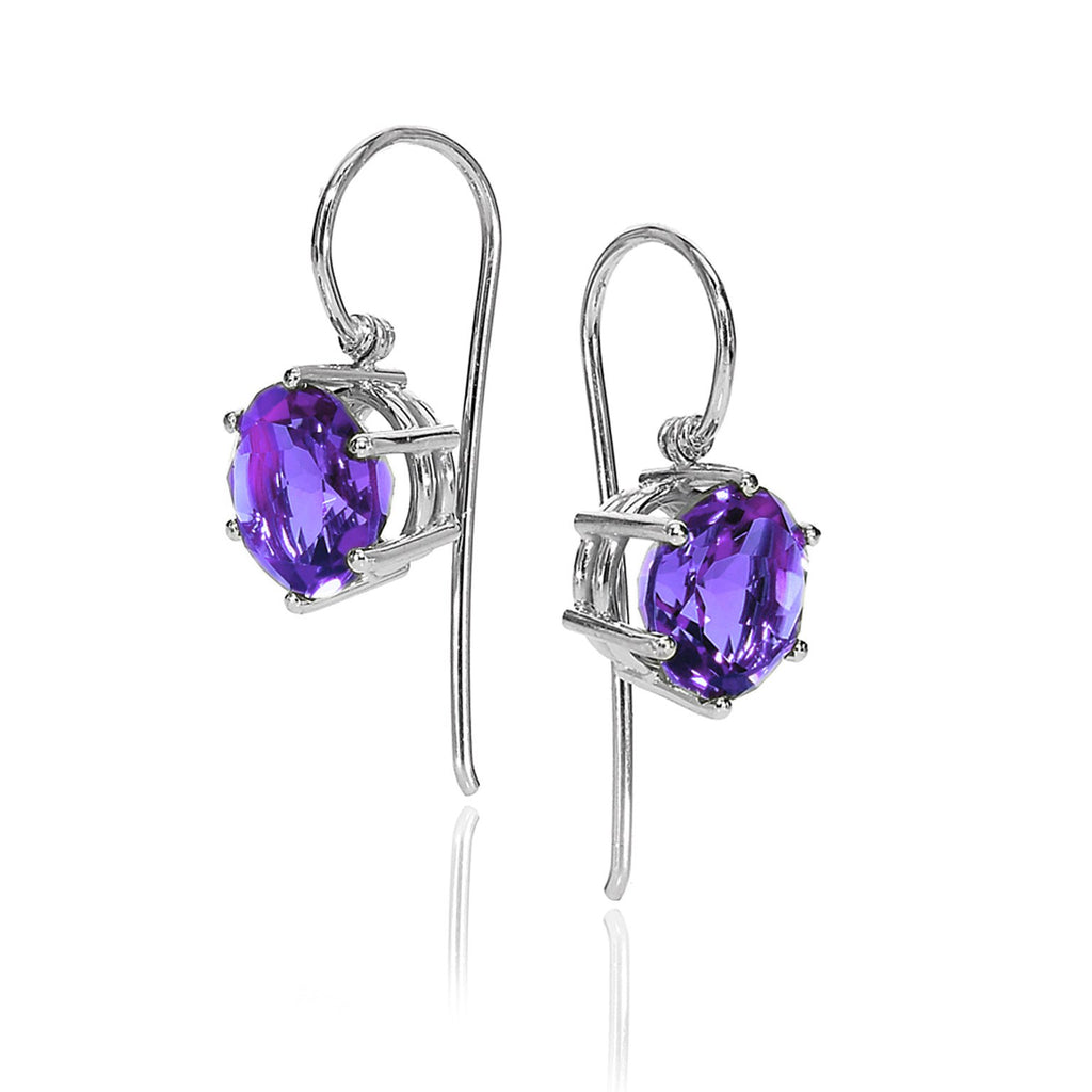 Erich Zimmermann Amethyst Gold Handmade Princess Earrings - Szor Collections