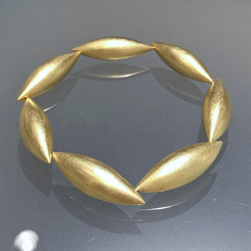 Erich Zimmermann Seven Cocoon Pod Gold Bracelet - Szor Collections