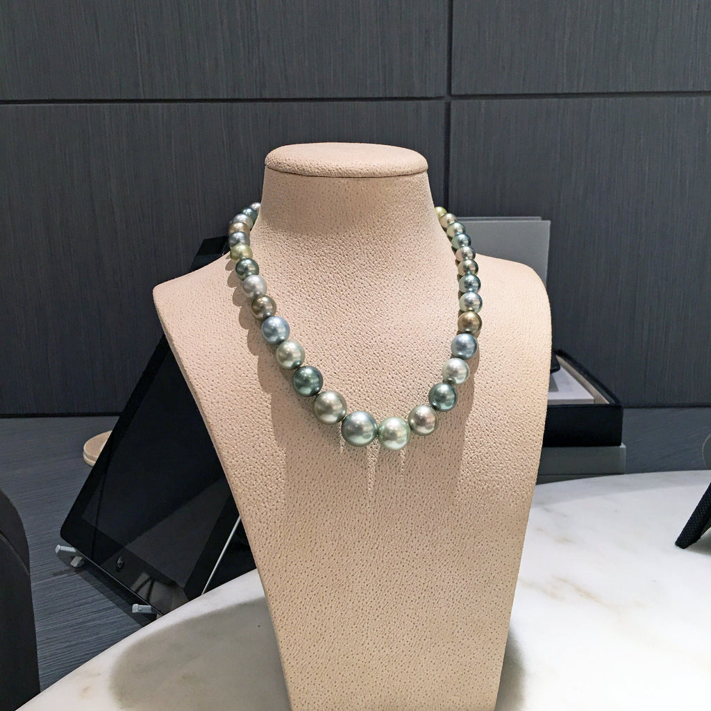 Atelier Zobel Multicolored Tahitian Pearl Double Hidden Clasp Necklace - Szor Collections