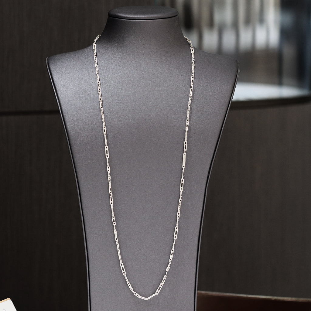 John Iversen One of a Kind Double Dot Links Sterling Silver Chain Necklace - Szor Collections