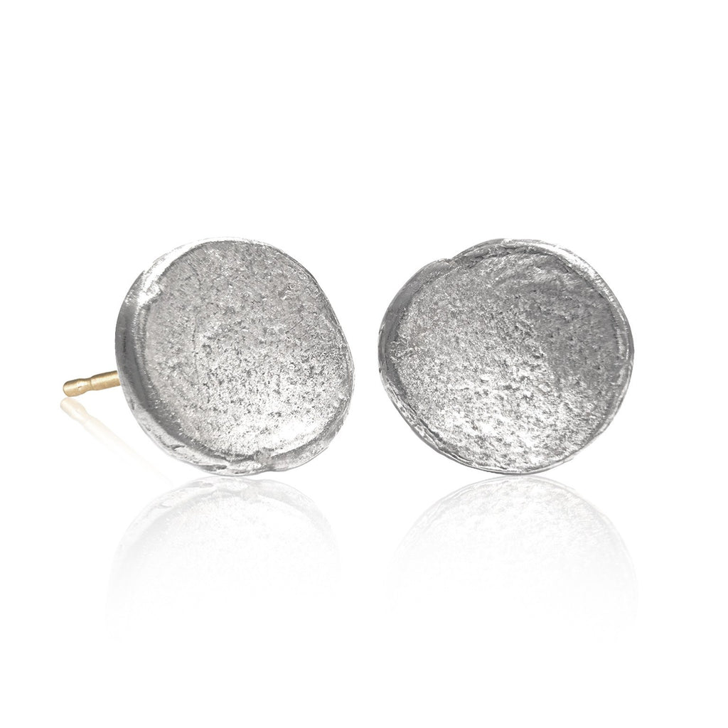 John Iversen Bright Sterling Silver Anemone Earrings (Special Order) - Szor Collections