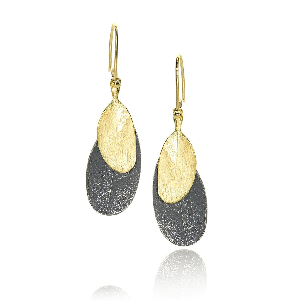 John Iversen - John Iversen Assorted Double Leaf Earrings - Szor Collections - 2