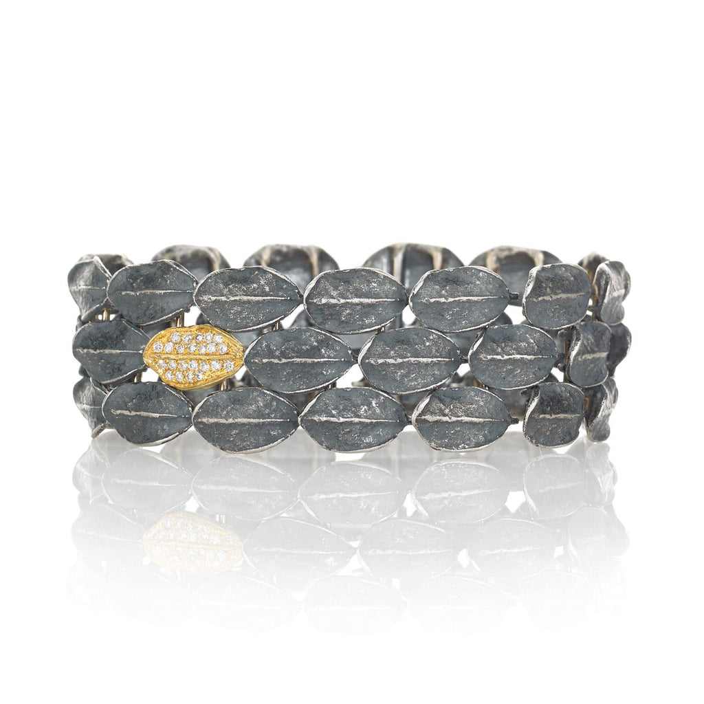 John Iversen Diamond Gold Silver Fall River Bracelet (Special Order) - Szor Collections
