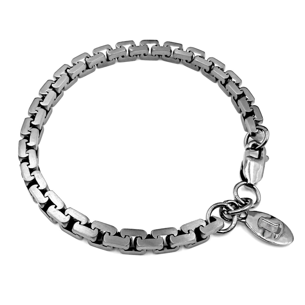 Jasmina Jovy Black Rhodium Silver Chain Bracelet - Szor Collections