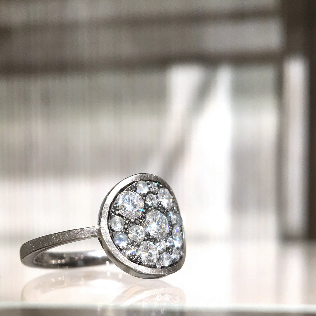 Joke Quick Diamond Blue Moonstone Starstruck Ring - Szor Collections