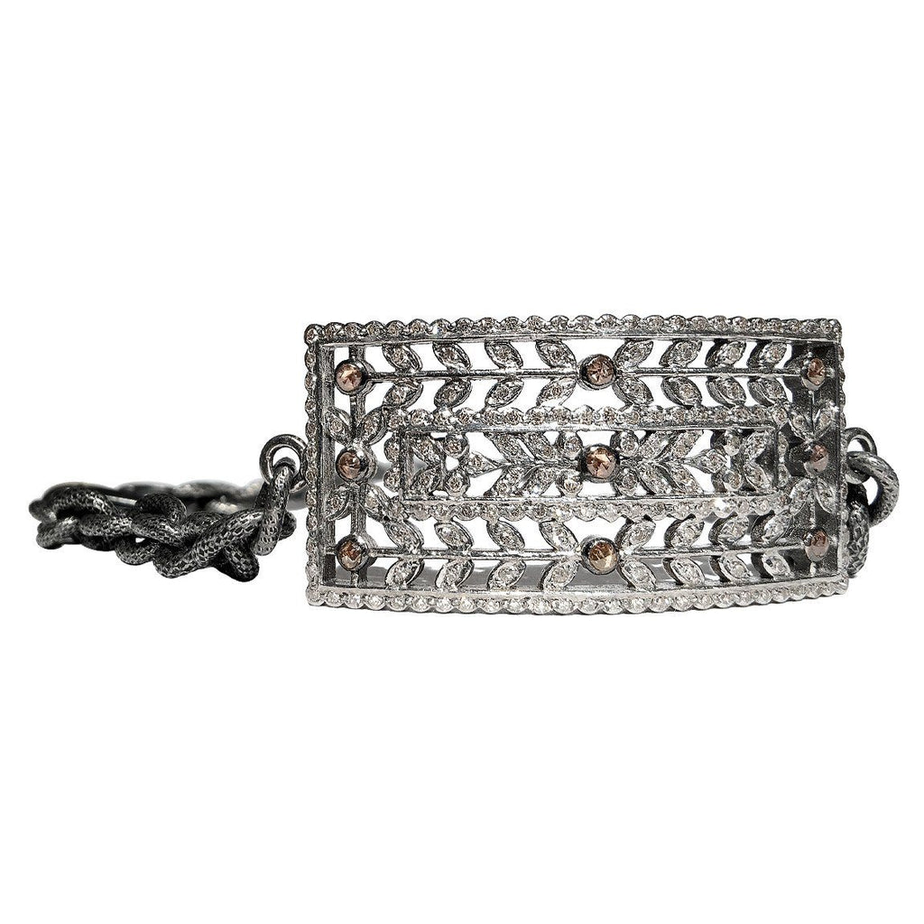 Liza Beth Floral Vintage Diamond Cut Out Double Wrap Bracelet - Szor Collections