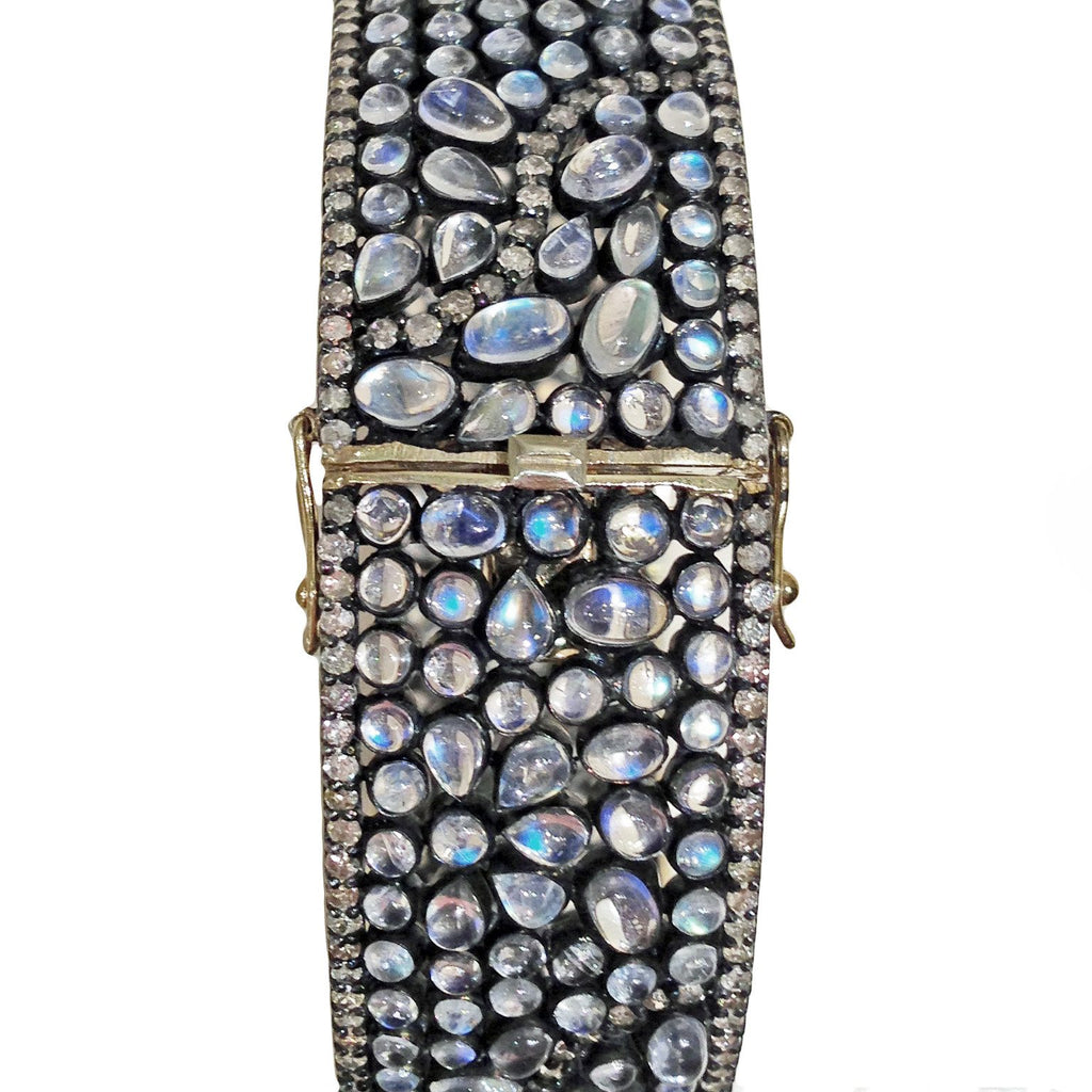 Lauren Harper Moonstone White Topaz Bubble Cuff Bracelet - Szor Collections