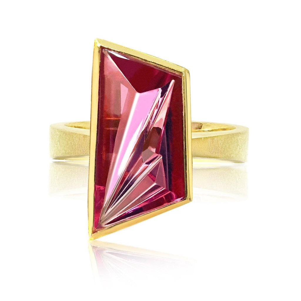 Enric Majoral One of a Kind Munsteiner Pink Tourmaline Ring - Szor Collections