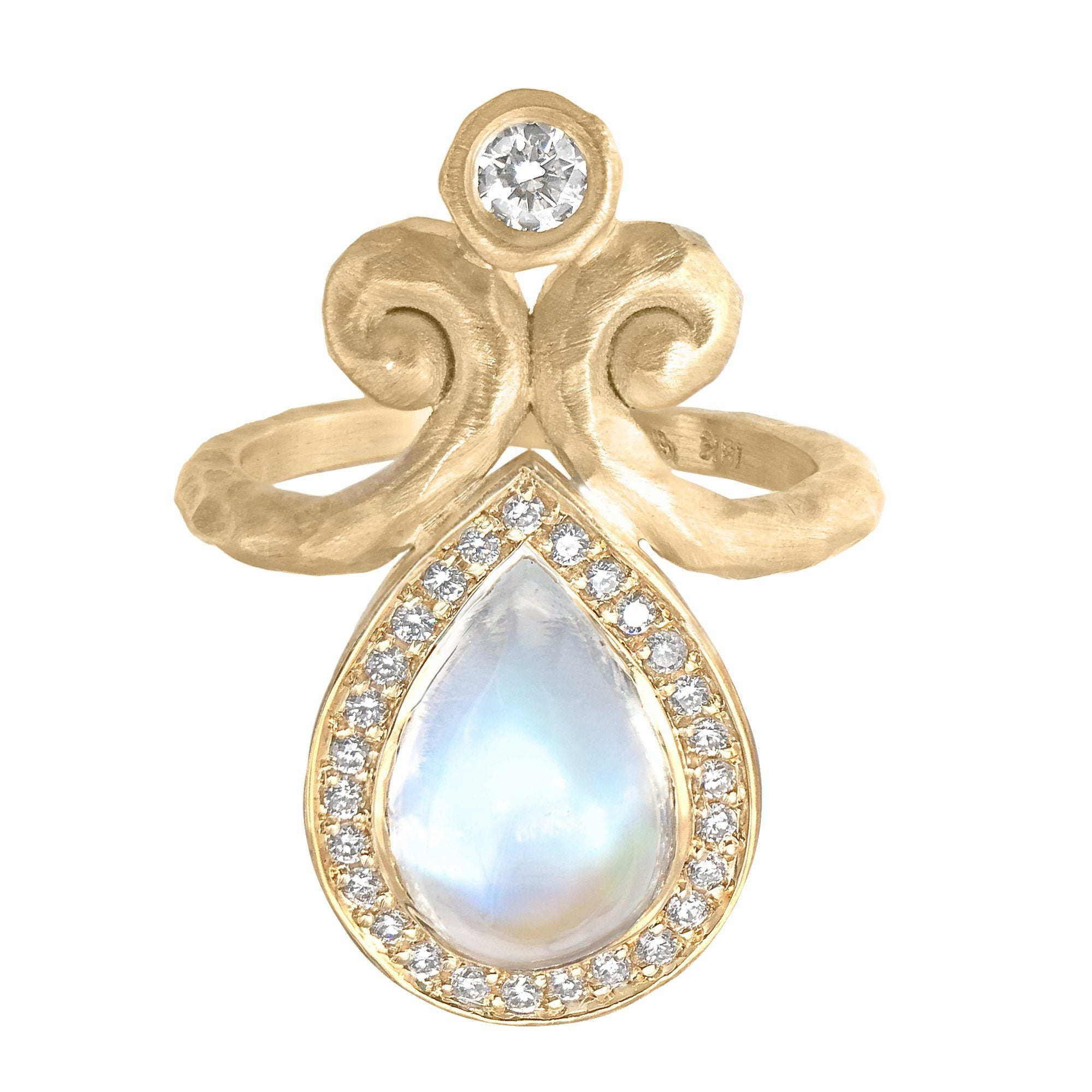 products princess lumo ring moonstone rings wb