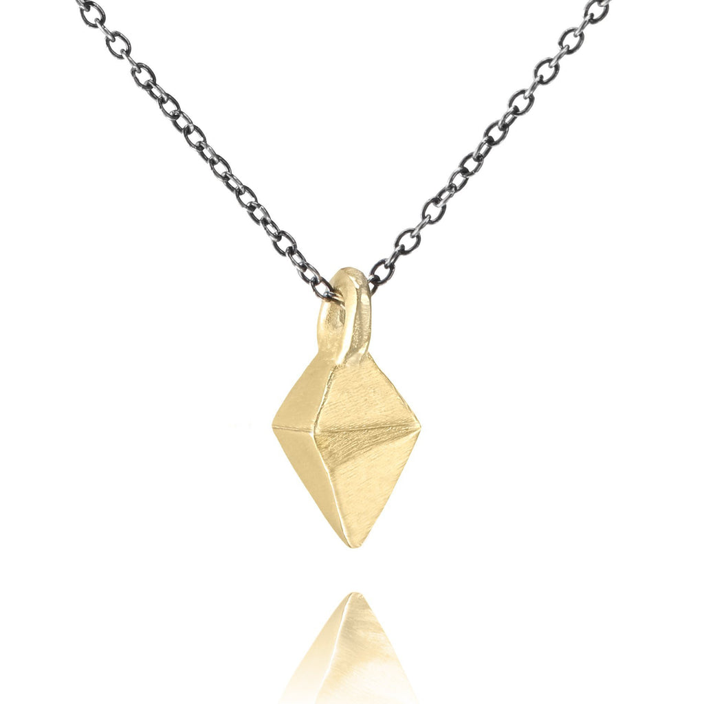 Lauren Wolf Gold Faceted Kite Drop Necklace - Szor Collections