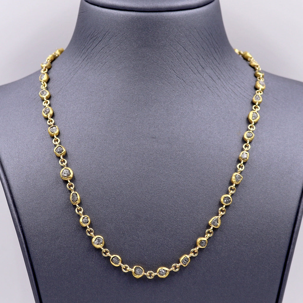 Petra Class 38.0ct Diamond Handmade Heavy Gold Chain Necklace - Szor Collections