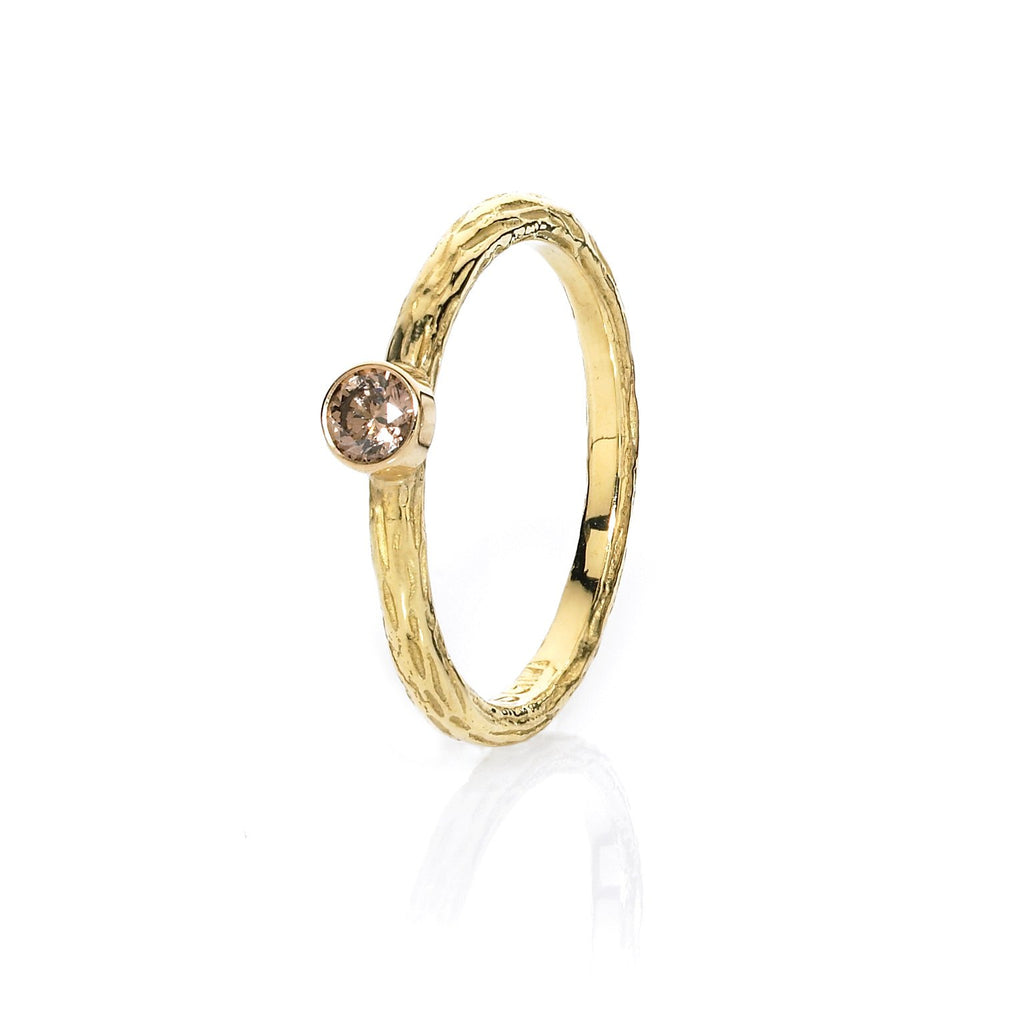 Sarah Graham Assorted Diamond Gold Steel Stacking Rings - Szor Collections - 3