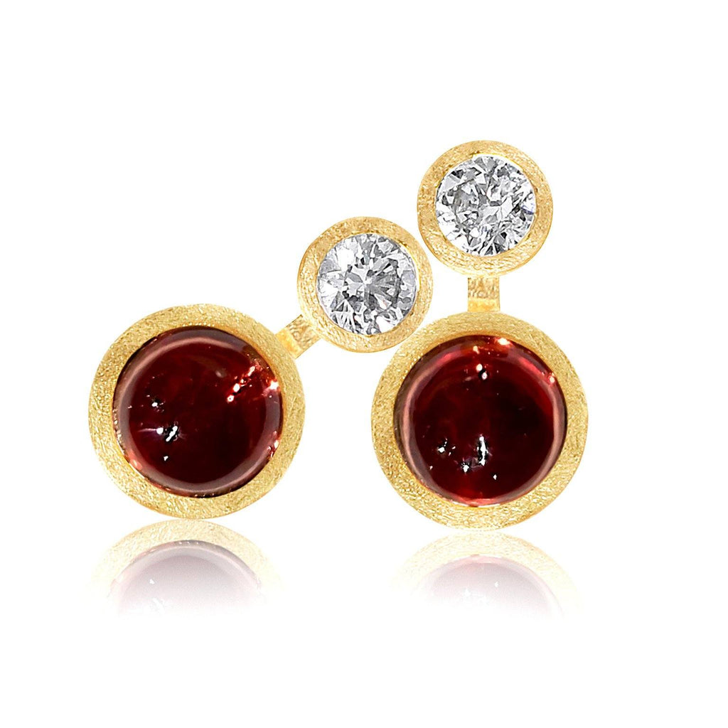 Shimell and Madden Glowing Garnet Diamond Nova Earrings (Special Order) - Szor Collections