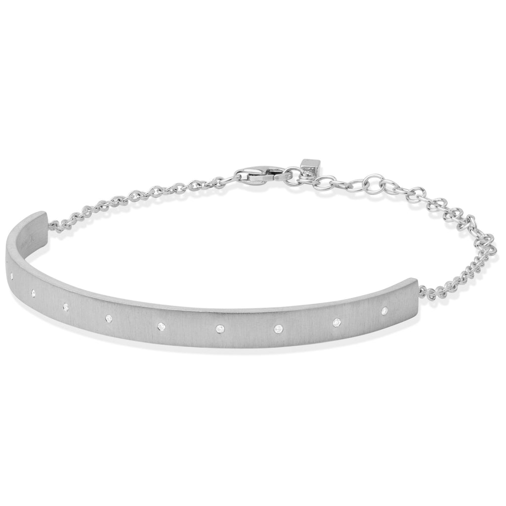 Wille Jewellery Diamond Silver Cosmos Chain Bracelet - Szor Collections