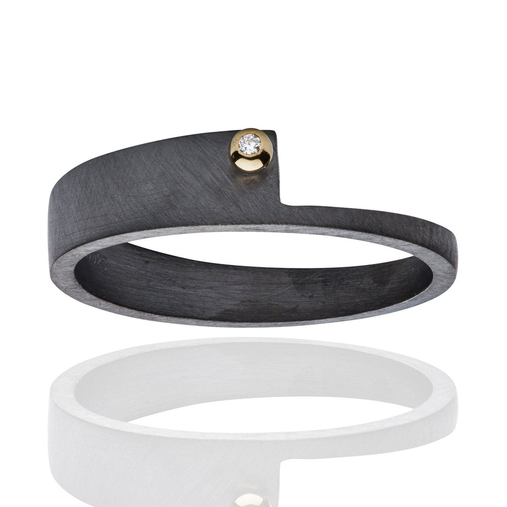 Wille Jewellery Gold Black Silver Assorted Stacking Rings - Szor Collections