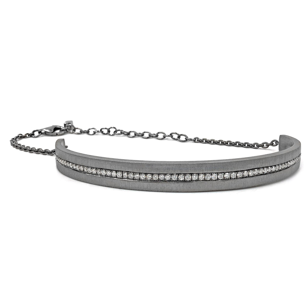 Wille Jewellery Black Silver Diamond Cosmos Bracelet - Szor Collections