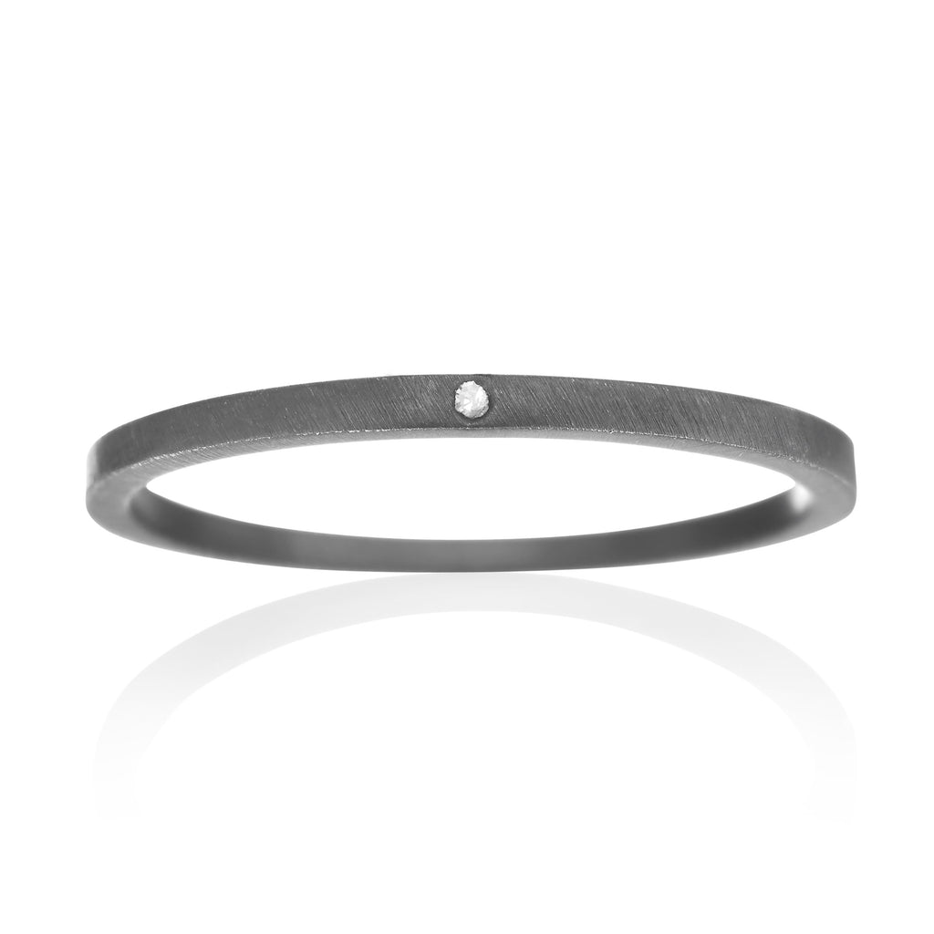 Wille Jewellery Silver Diamond Assorted Stacking Rings (Special Order) - Szor Collections